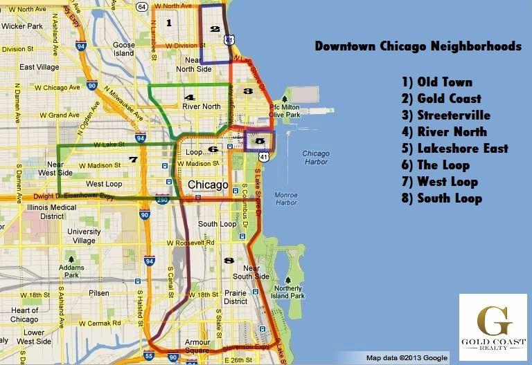 Downtown chicago neighborhoods chicago neighborhoods map