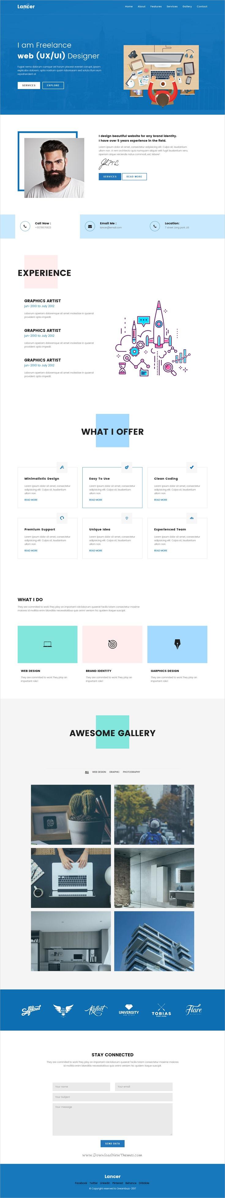 LancerPersonal Portfolio Template