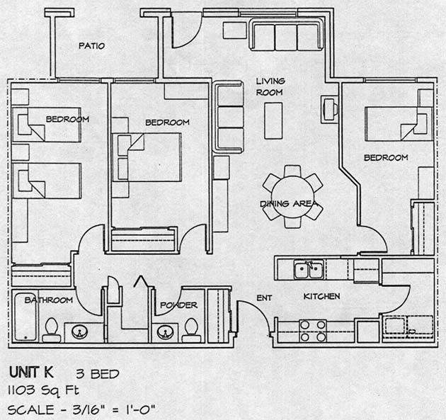 3 bedroom unit floor plan design ideas 20172018 Pinterest