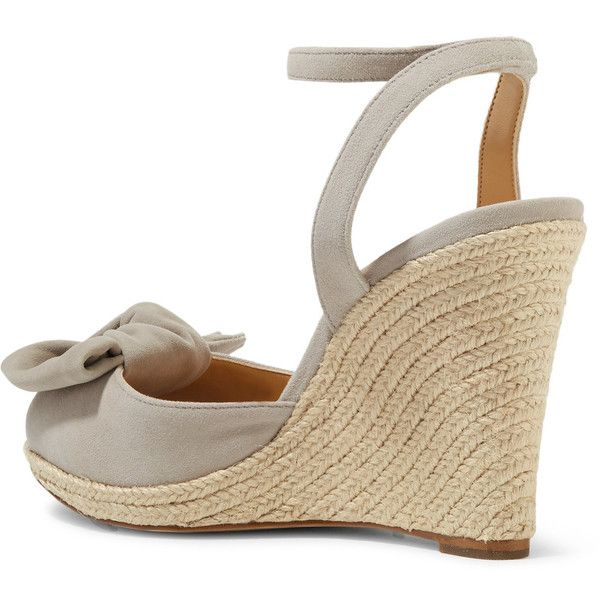 4e336ccadd72 MICHAEL Michael Kors Willa suede espadrille wedge sandals ( 195) ❤ liked on  Polyvore featuring shoes