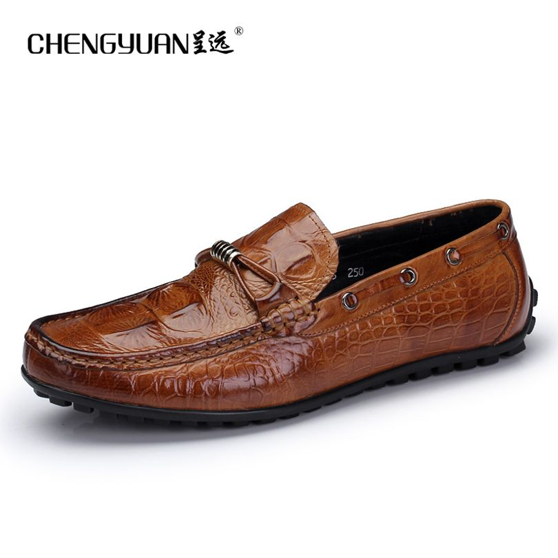 Mens Casual Shoes Leather Low-Top Sneakers Flat Loafers Deck Shoes Breathable Comfort Driving Shoes