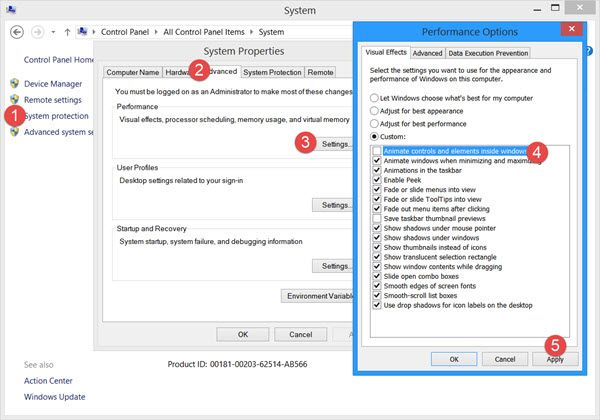 Disable Start Menu Start Screen Animation In Windows 10 8 Start