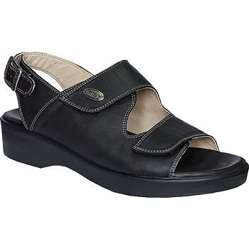 Ortopedik Deri Yazlik Sandalet Bayan Siyah Ort 07as Sandalet Siyah Deri