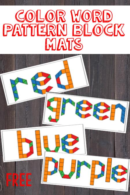 Sight Word Pattern Blocks Color Activities Kindergarten Color Word Activities Pattern Blocks