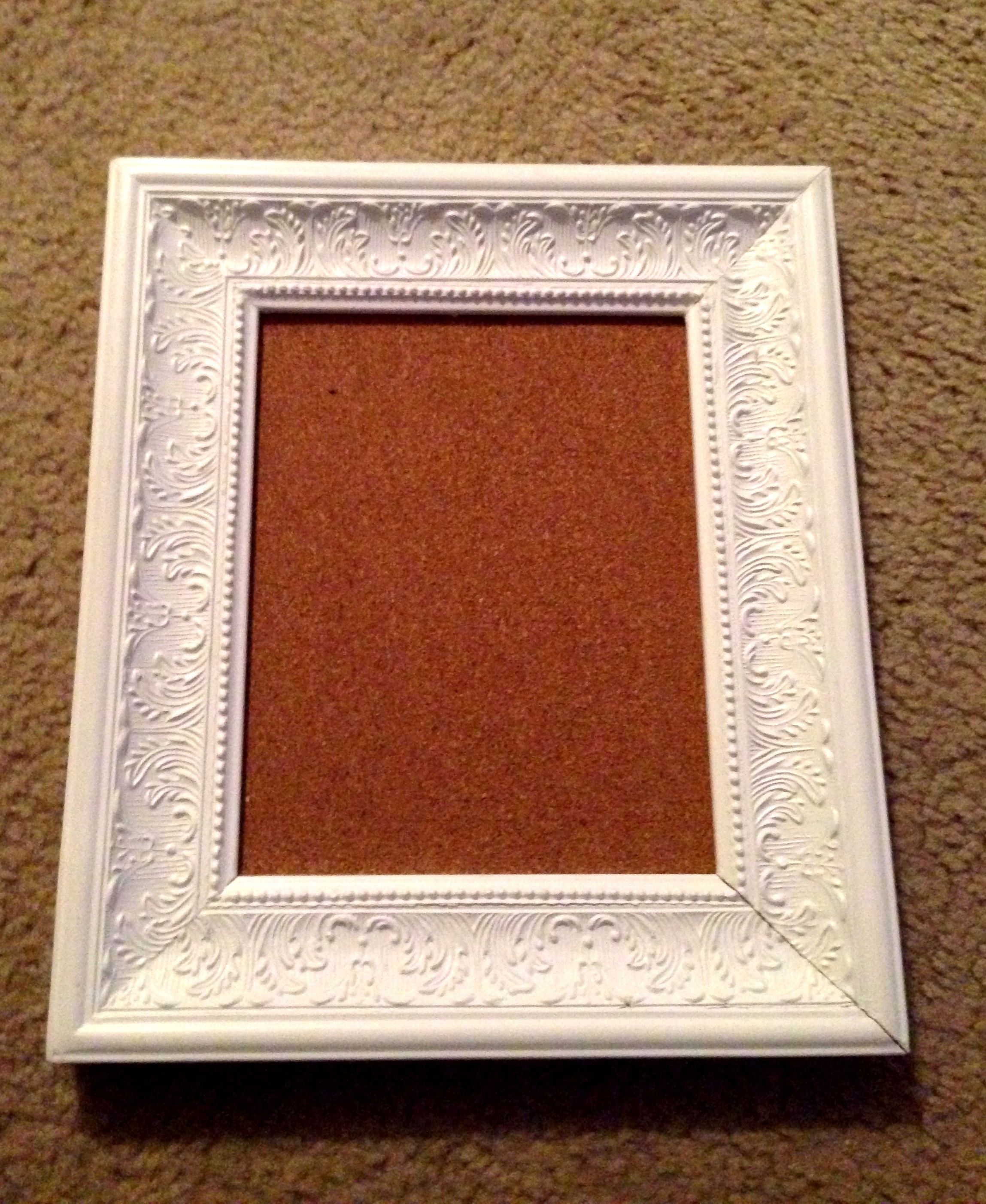 Diy Framed Cork Board Frame And Cork Purchased At Hobby