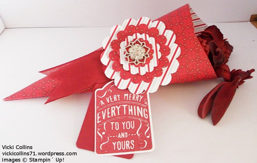 Stampin' Up! Potpourri Cones - Merry Moments