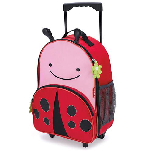 Skip Hop Zoo Kids Livie Ladybug Red 13 inch Rolling Luggage with ...