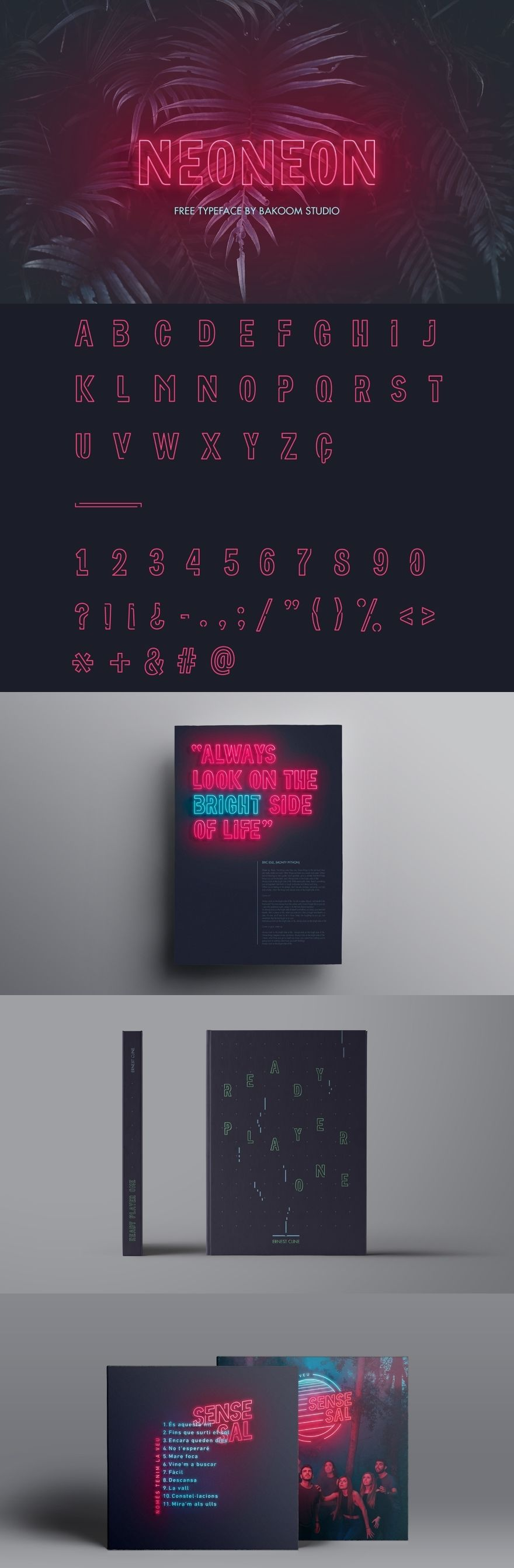 Neoneon is a free typeface meant to reproduce the 80 s style of