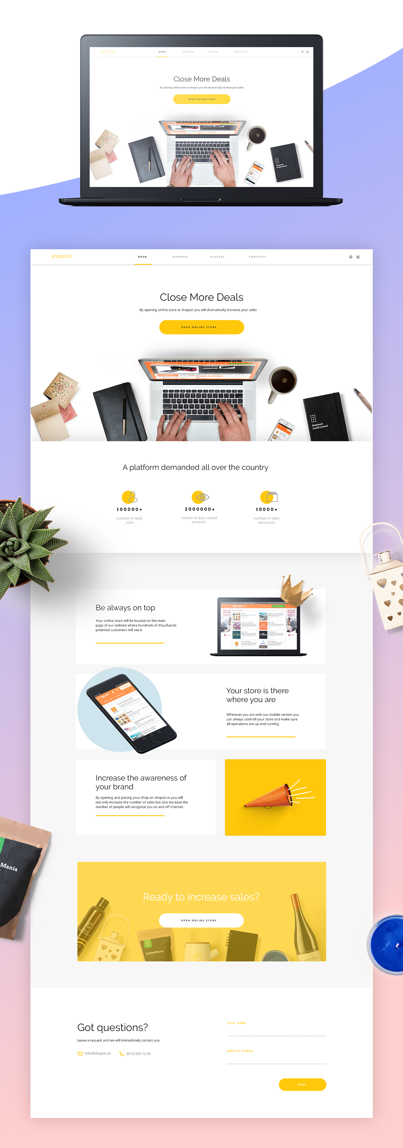 Online Store Web Template XD | UI Kits, Web & App Templates
