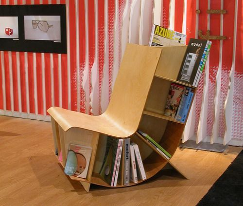 Book Chair So Cool Home Libraries ღ Pinterest - Bookchair combined with bookshelf