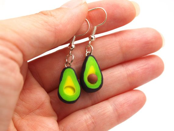 Avocado Earrings - Avocado Studs/Posts Earrings    First order ever on Etsy, use this link to receive a $5 rebate on your purchase: