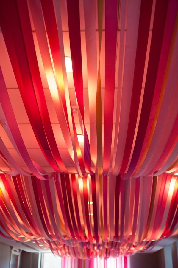 Bat Mitzvah Party Decor Pink Gold Streamers Cool Ceiling Planner Florie Huppert Design Photographer 5th Avenue Digital