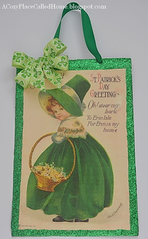 A Cozy Place Called Home: Vintage Inspired St. Patrick's Day Sign