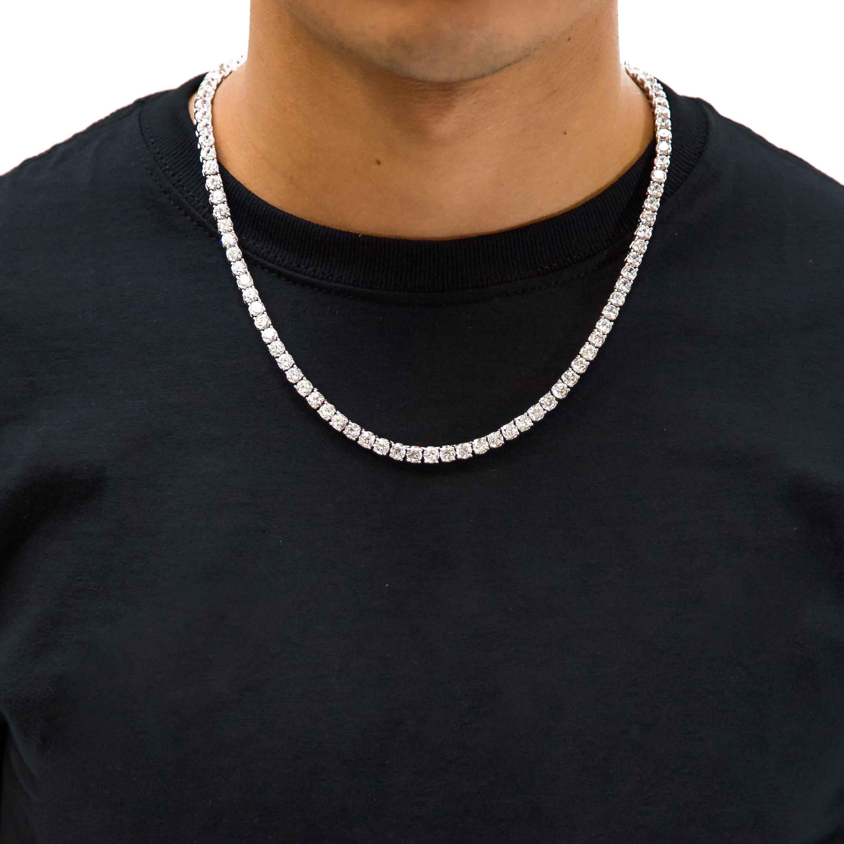 Diamond Tennis Chain Chain Diamond Vvs Diamond