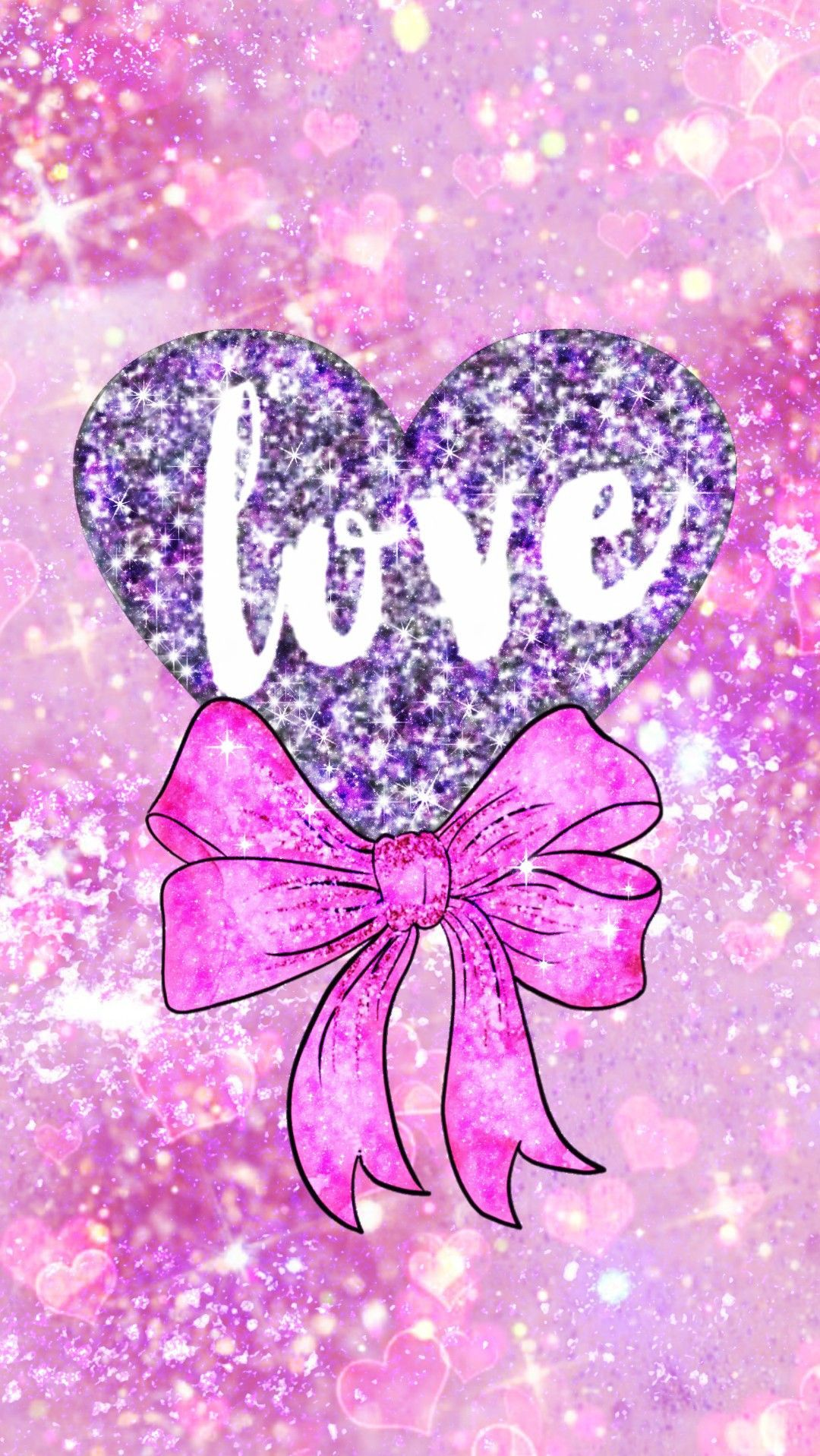 Glittery Valentine Heart Made By Me Love Valentinesday Bow Pink Girly Love Bemine Iloveyou Hearts Valentines Wallpaper Heart Wallpaper Love Wallpaper Glitter pink love wallpaper
