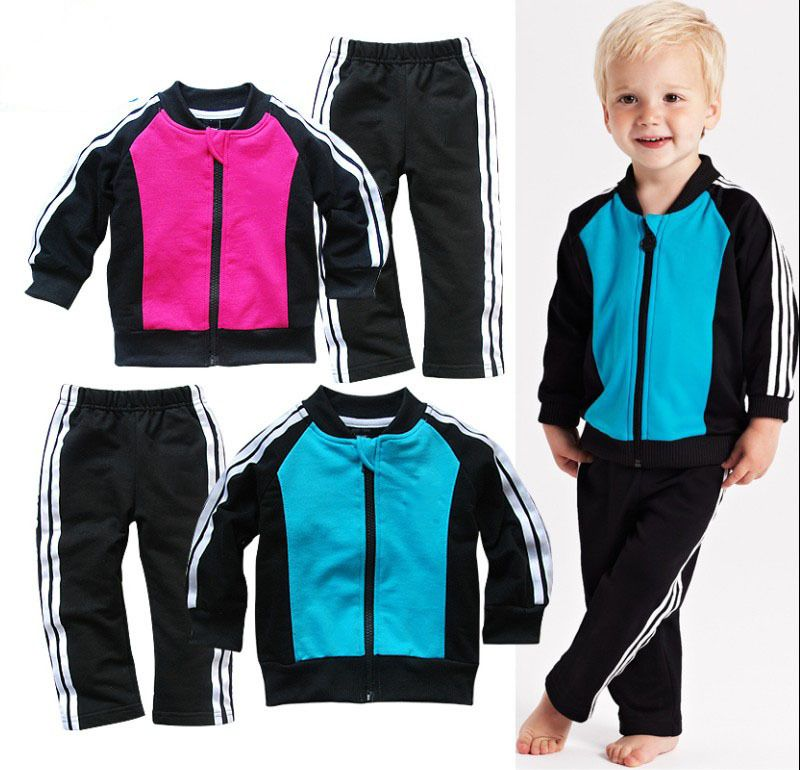 Collar white edge stripes leisure baby suits 5pcs/lots-in Clothing Sets from Apparel & Accessories on Aliexpress.com