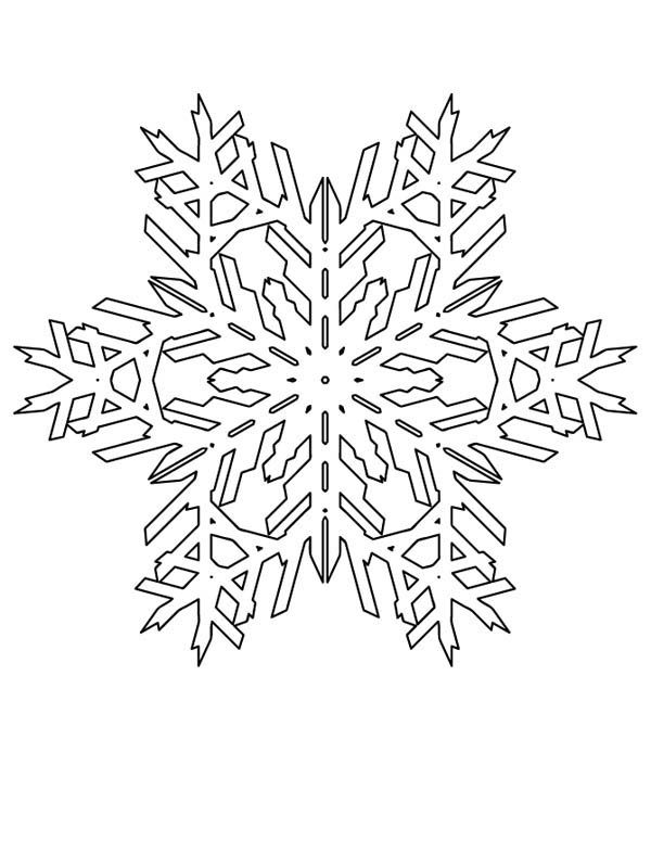 Christmas, : Lovely Christmas Snowflakes Pattern Coloring Page ...