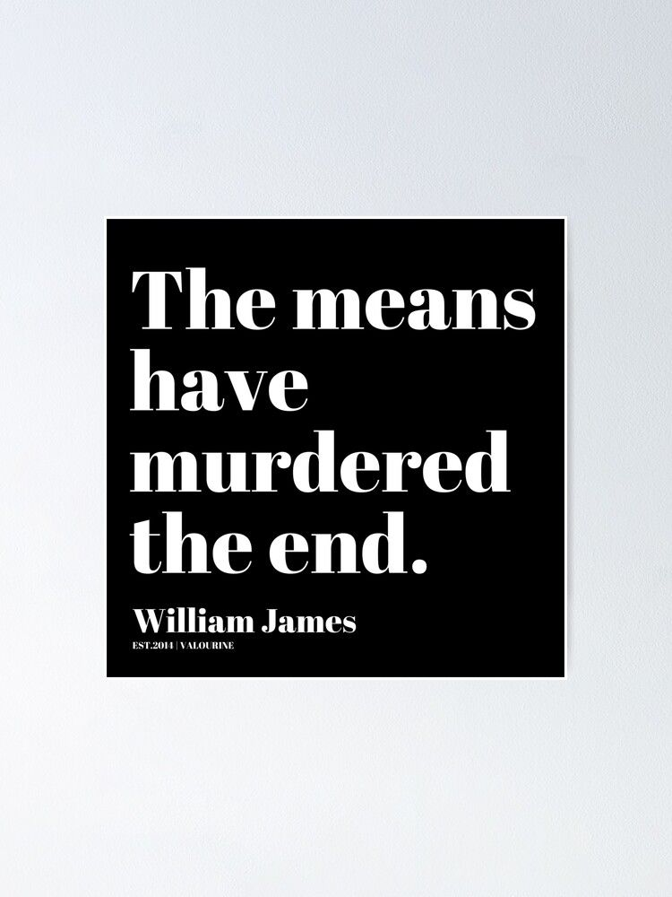 82  | William James Quote| 201025 Father of Psychology Quote  Poster by valourine