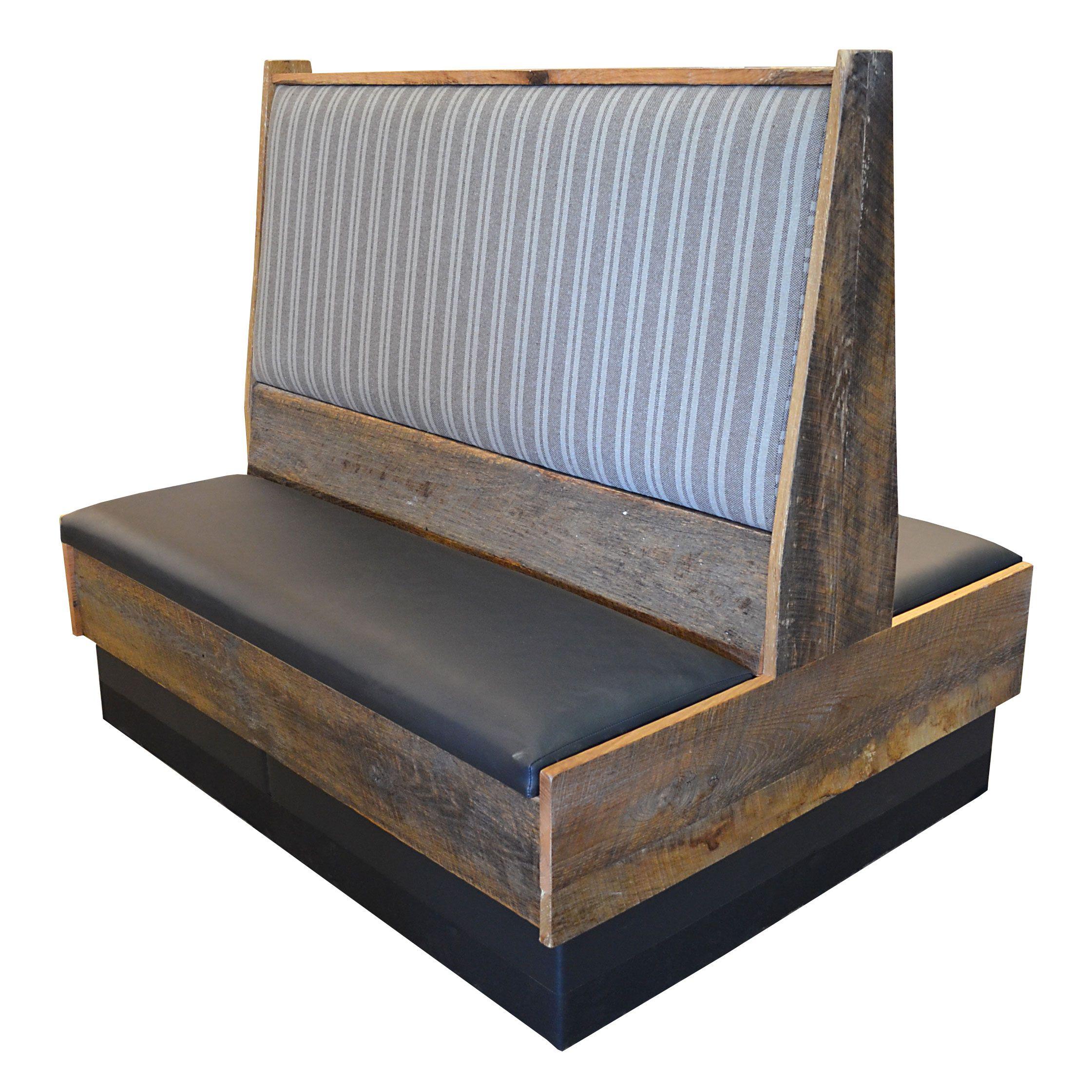 A Custom Made Reclaimed Wood Restaurant Booth