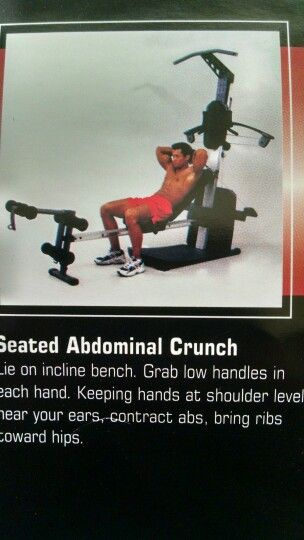 Seated abdominal crunch heidi lusson weider crossbow exercises also best images on pinterest ejercicio rh