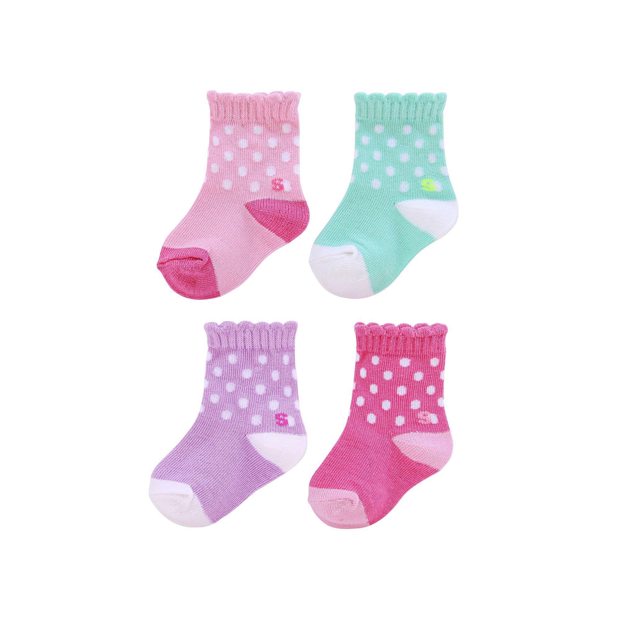 674711237e35 Baby Girl   Toddler Girl Jumping Beans® 4-pk. Crew Socks