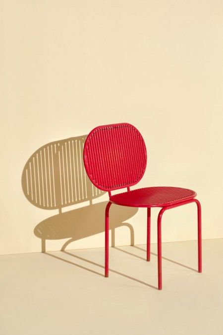Verena Hennig Roll Collection Chair red