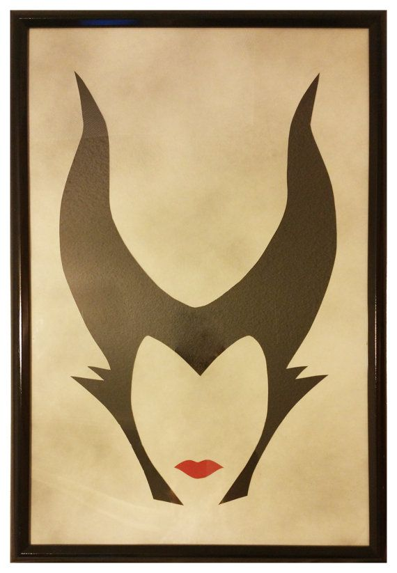 Handmade 16x24 minimalist disney maleficent art piece with for Minimalist art pieces