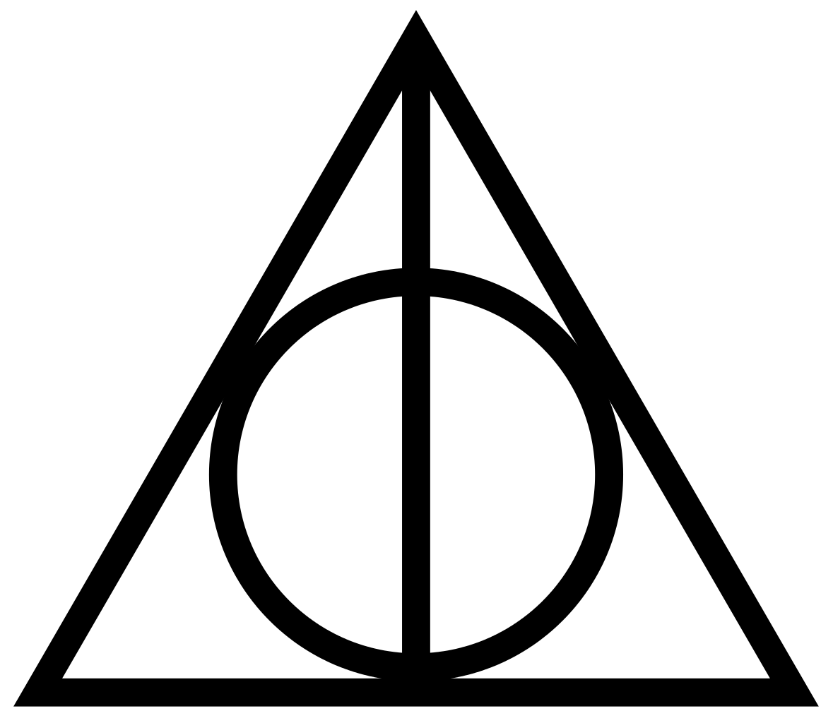 1179px-Deathly_Hallows_Sign.svg.png (1179×1024) | Reliques ...
