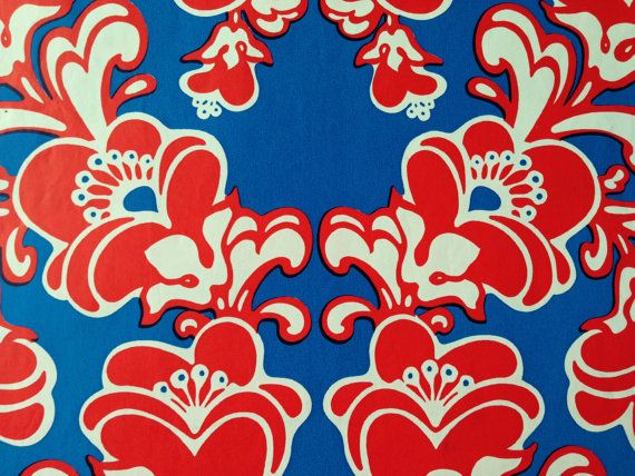 Vintage Gift Wrapping Paper  Groovy by TheGOOSEandTheHOUND on Etsy, $4.50