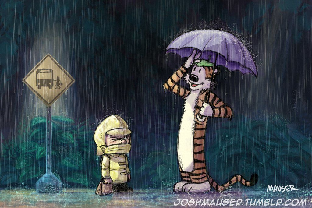 Variations On My Neighbor Totoro Calvin And Hobbes Wallpaper Calvin And Hobbes My Neighbor Totoro