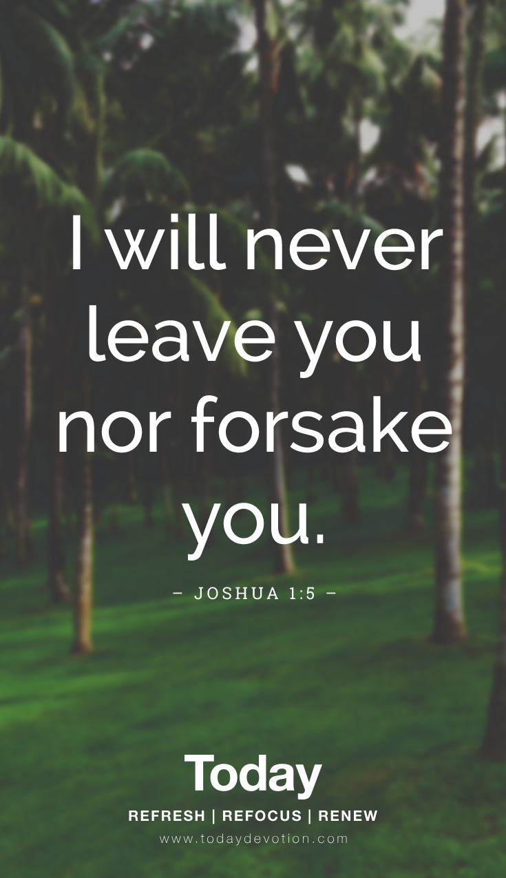 i will never leave you nor forsake you words of jesus
