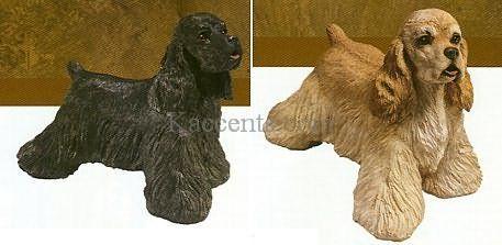 Cocker Spaniel Statue Black Or Buff Cocker Spaniel Spaniel Statue