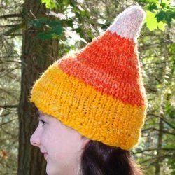 Candy Corn Hat Knitting Holiday Knitting Patterns Hat Knitting Patterns