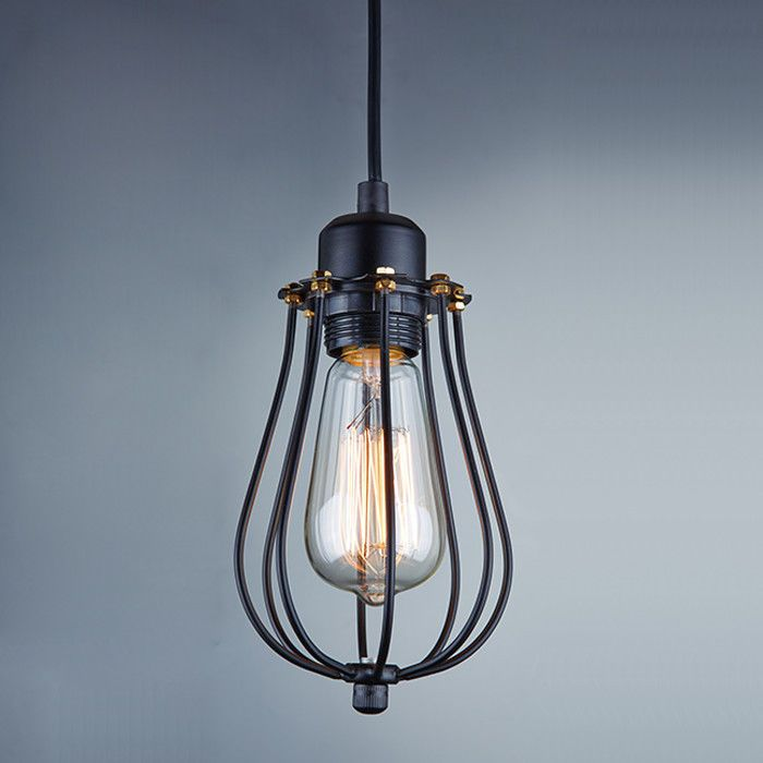 Industrial Edison Pendant Light: Vintage Industrial Metal Cage Pendant Light Chandelier