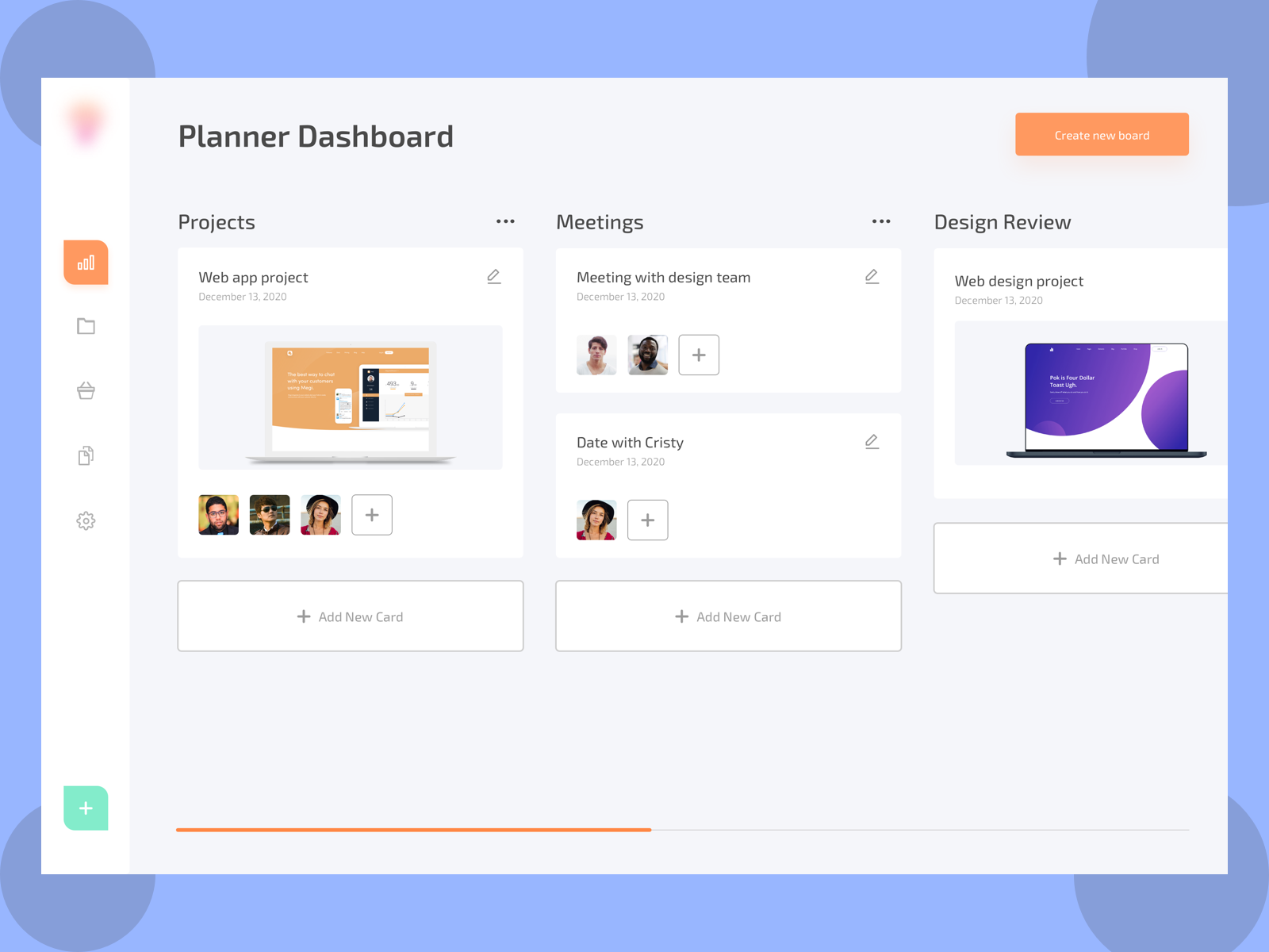 Instagram shot planner dashboard concept (With images