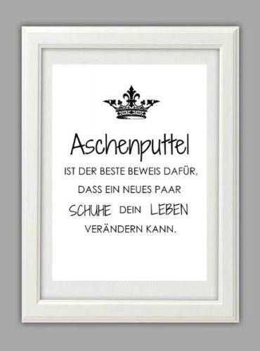 Lifestyle Fine Art Druck Bild Typografie Krone Richten Geschenk