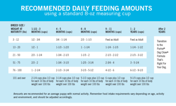 How Much To Feed A Puppy Puppy Feeding Chart Purina Puppy Feeding Guide Puppy Feeding Schedule Puppy Training