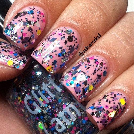 Nerd Valley: Glitter Topper Nail Polish Lacquer- Indie Nail Polish Custom Handmade