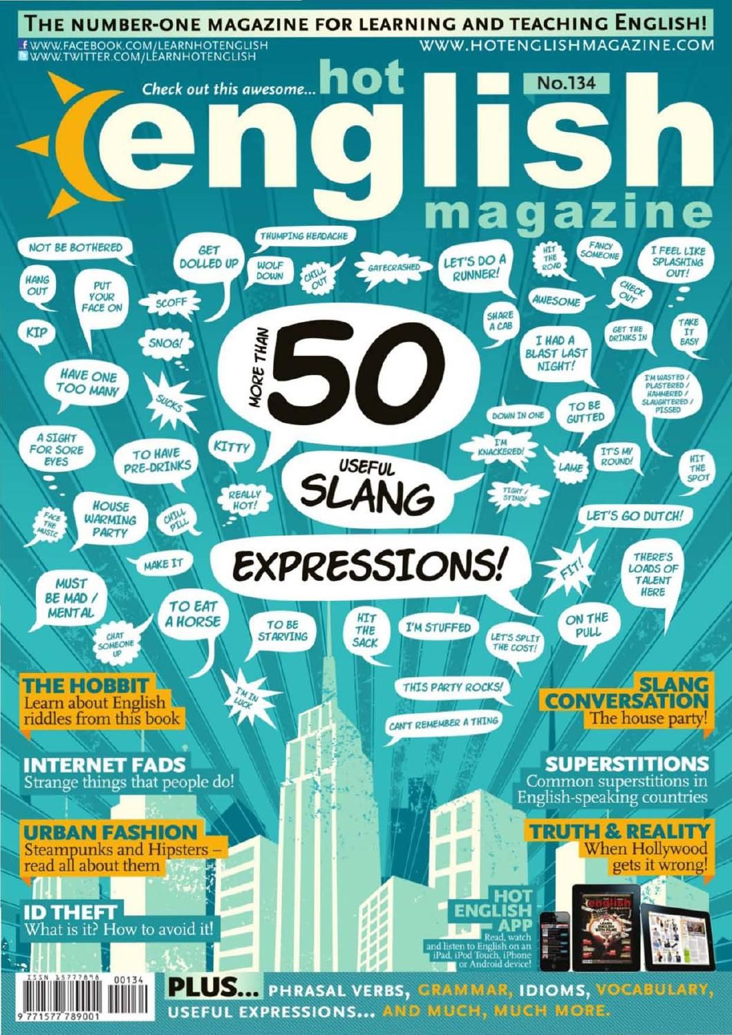 Hot English Magazine Number 134 50 Slang Expressions Hobbit Riddles And Reading