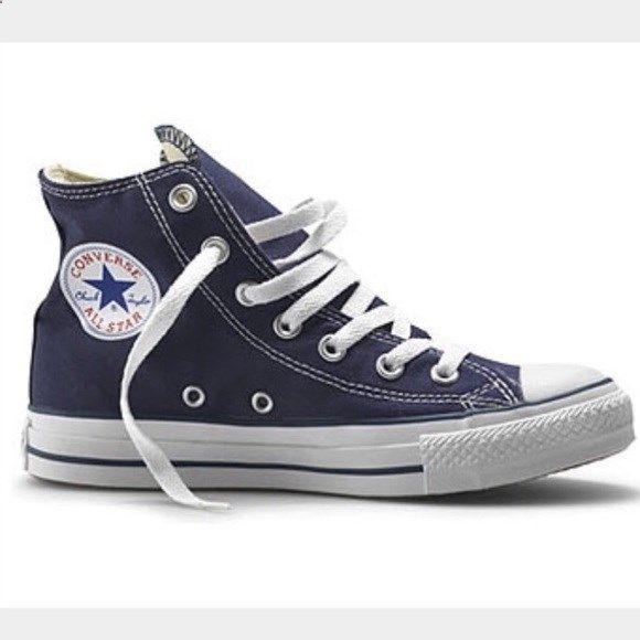 2b784de27344 Navy blue converse high tops NEW navy blue high top converse. Size 3 in boys.  Never worn and in perfect condition Converse Shoes Sneakers