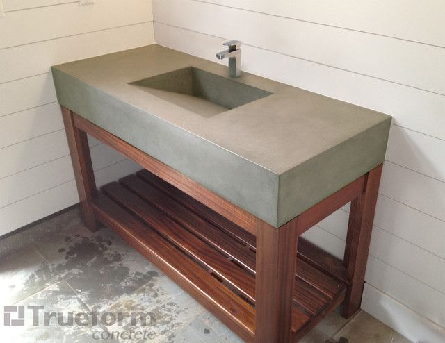 Making a concrete bathroom basin google search for Diy bathroom sink cabinet