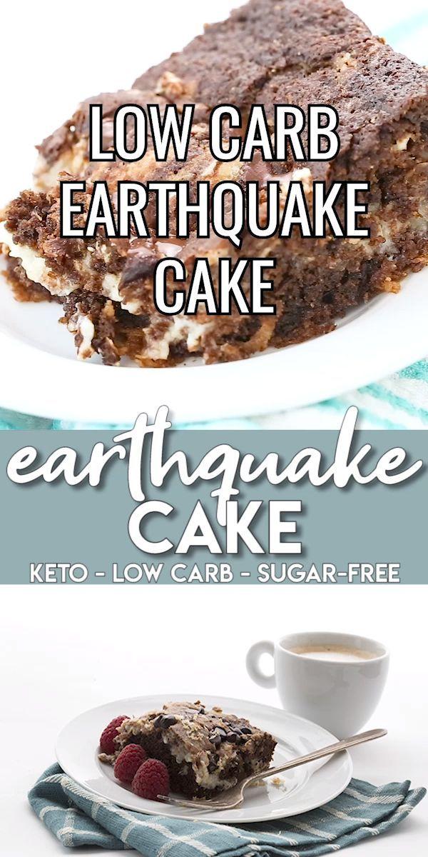 Keto Earthquake Cake