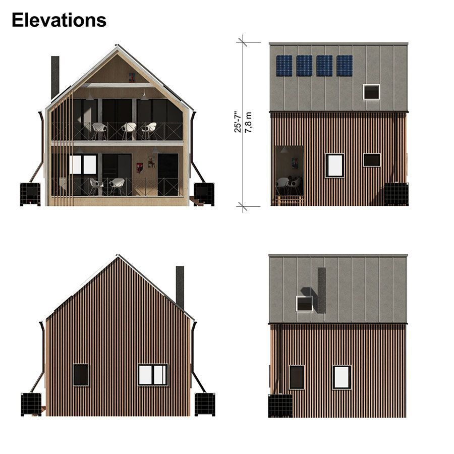 Modern Home Building Plans - Pin-Up Houses #HomeDecorCozy