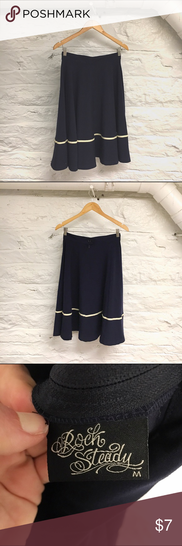 Navy Circle Skirt Circle skirt, Cute skirts, Modcloth skirt