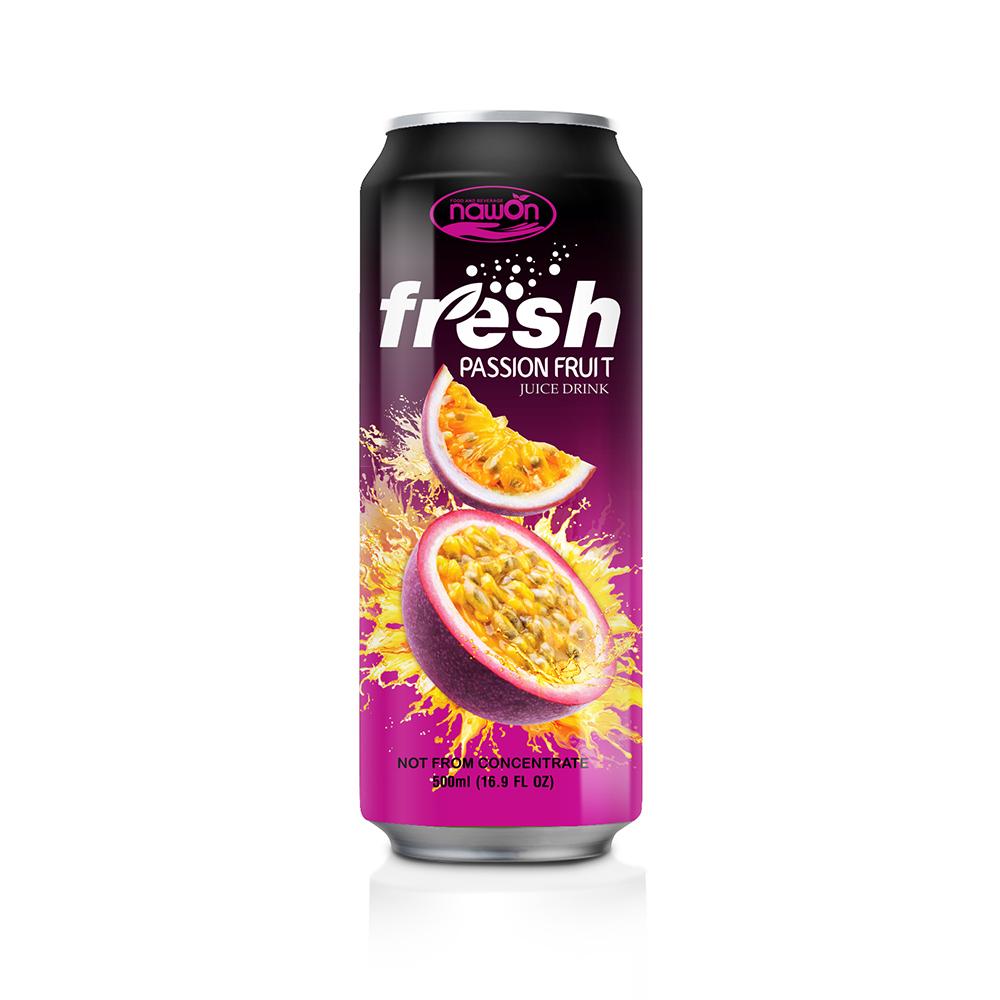 16 9 Fl Oz Nawon Canned Fresh Passion Juice Drink Nawon Beverage Supplier Manufacturer Juice Drinks Juice Branding Juice