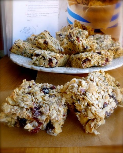 Nigella S Breakfast Bars Made Lighter Simple Nourished Living Recipe Homemade Breakfast Breakfast Bars Recipes