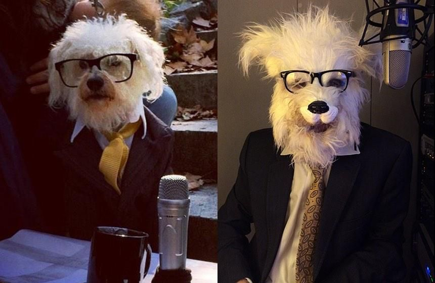 Radio Host Ira Glass Dressed As A Dog Dressed As Ira Glass On