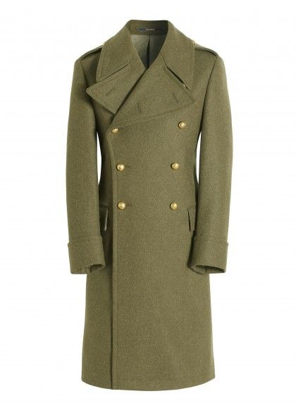 d272d0db5 Pure Wool Army Green Greatcoat | POST in 2019 | Trench coat men ...