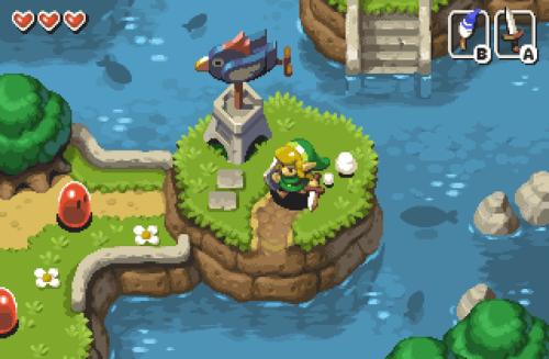 The Legend Of Zelda Link S Awakening Pixel Art Mockup