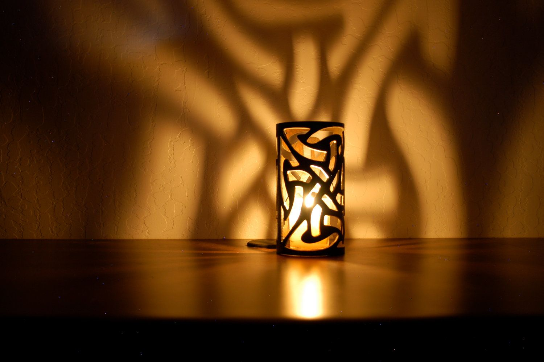 Celtic knot set decorative metal candle holders celtica